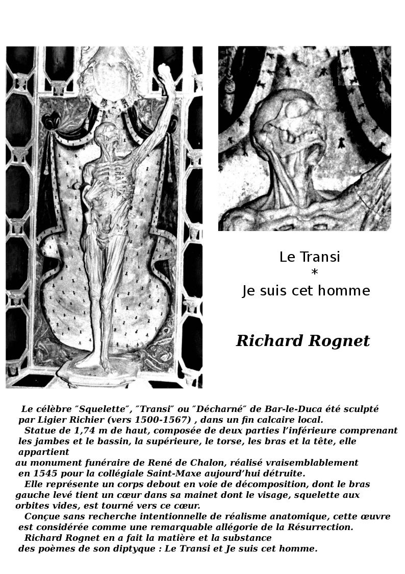 Le Transi   de Richard Rognet - collection Da Capo - format 14 x 20 cm - dos carré-collé - 92 pages - ISBN : 9782952154451 - prix : 15,00euros-