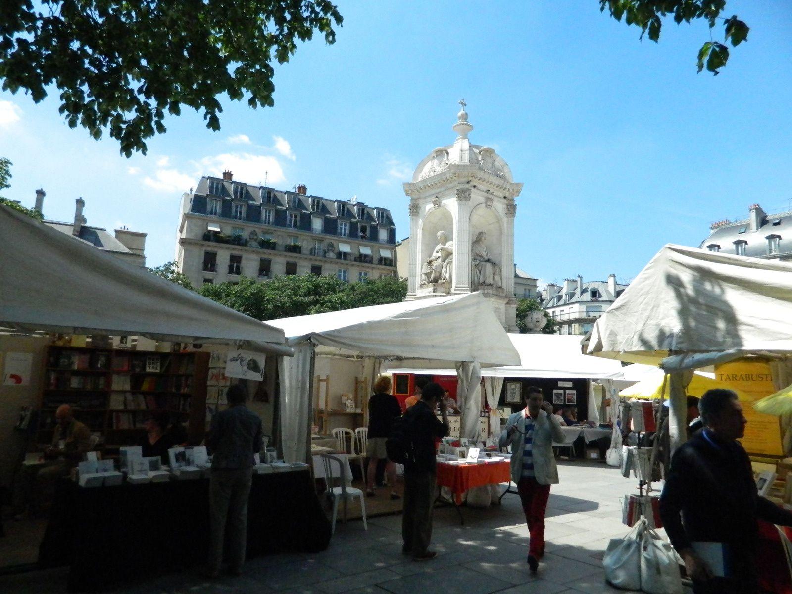 le Marché place Saint Sulpice, le matin du samedi