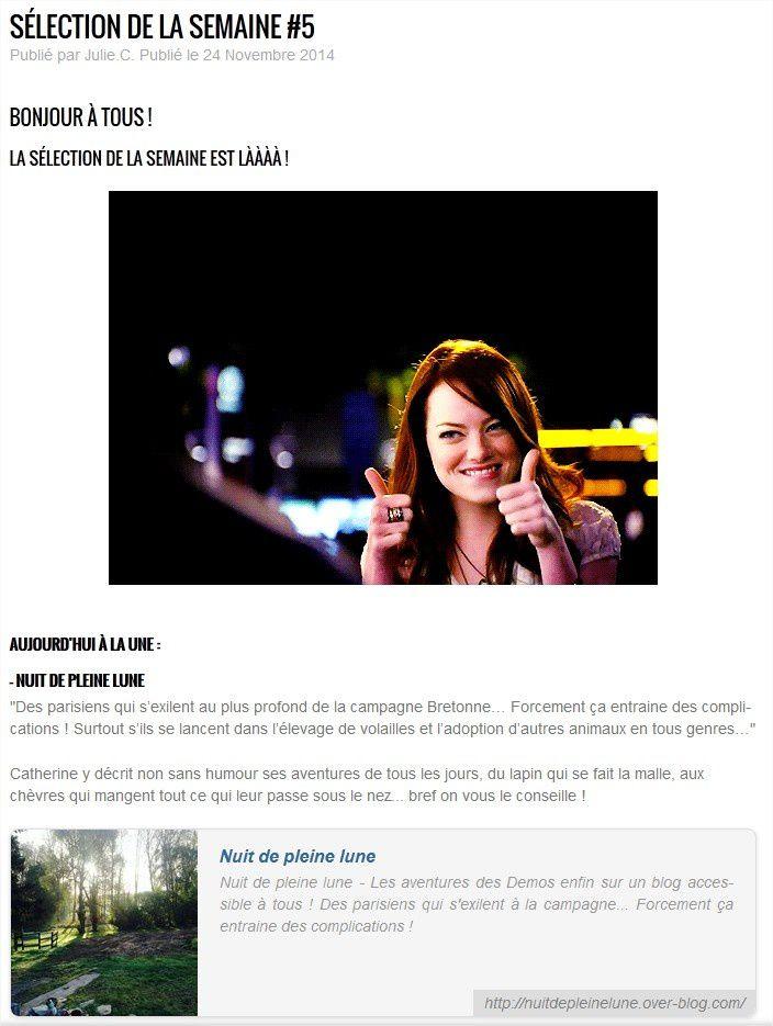 Sélection de la semaine OverBlog