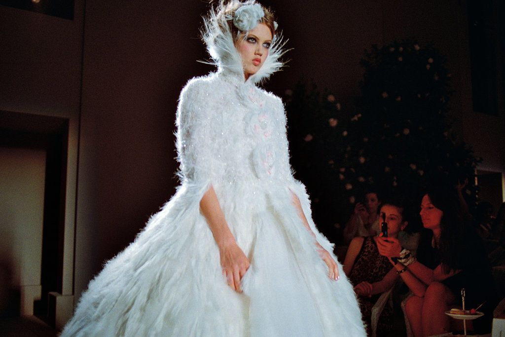Source: The New York Times Style Magazine - Lindsey Wixson wearing the fall 2012 Chanel wedding dress