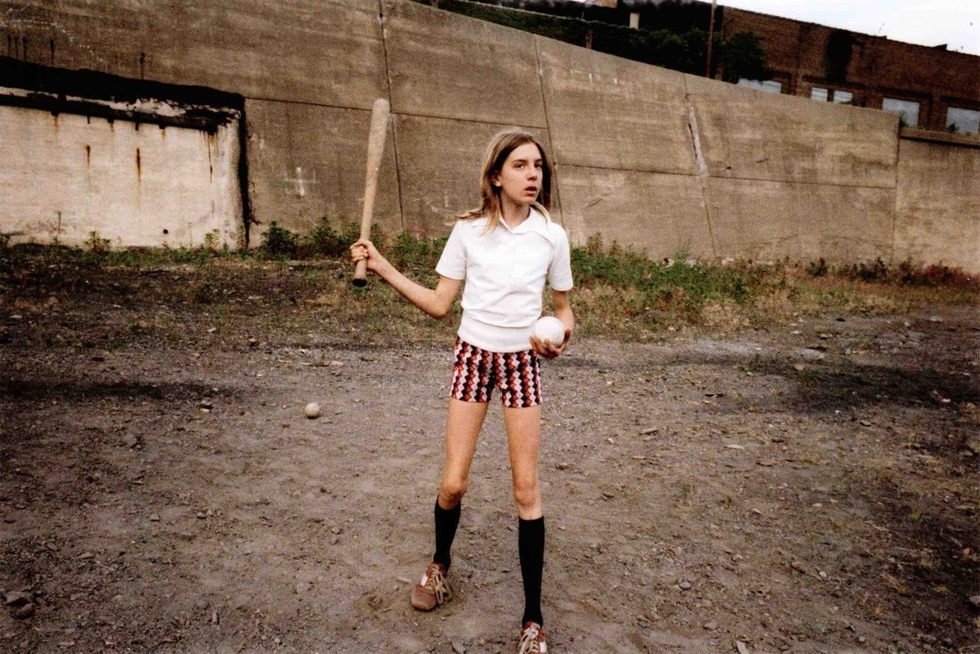 Girl with Bat and Ball, 1977 - Source: flashbak.com