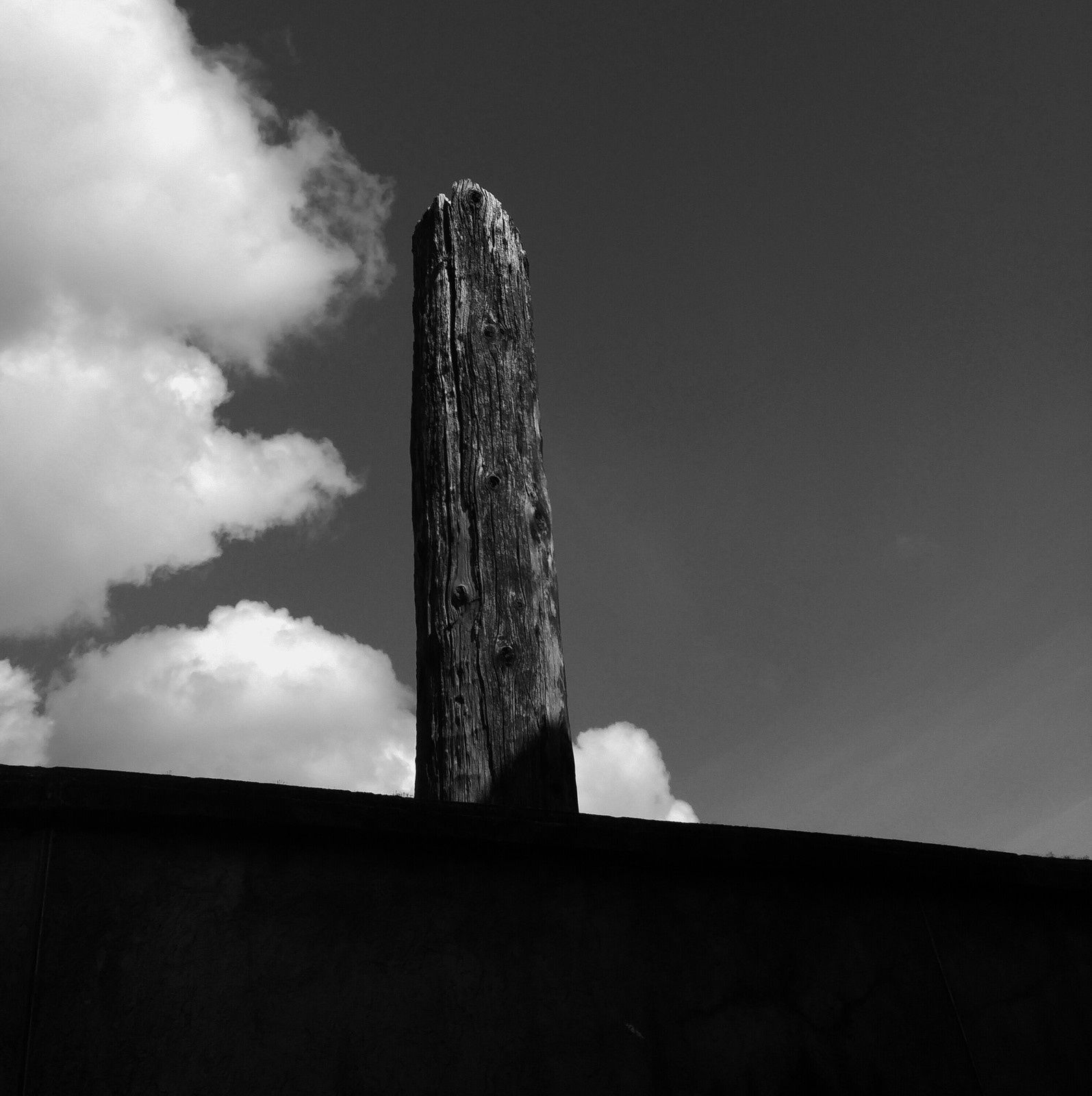 Wooden pole in black and white - June, 12th 2016 © Anne Errelis-Phillips