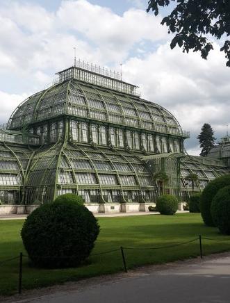 Schönbrunn's greenhouse./ La serre tropicale de Schönbrunn.
