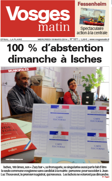 Elections municipales Isches 2014