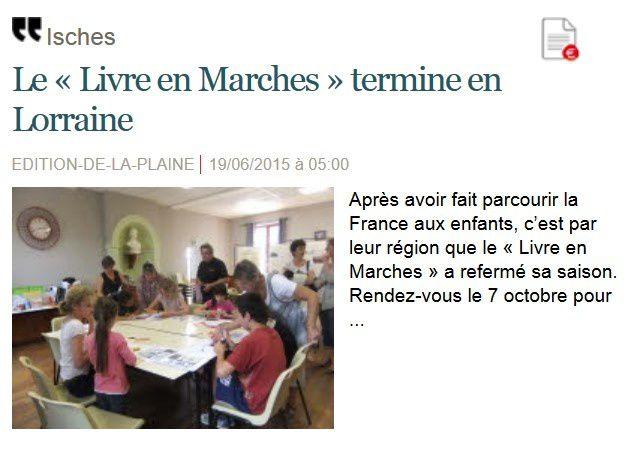 Quelques actualités Vosges Matin à Isches en 2015