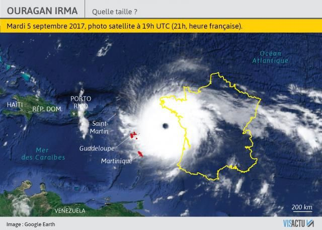 Taille de l'ouragan Irma