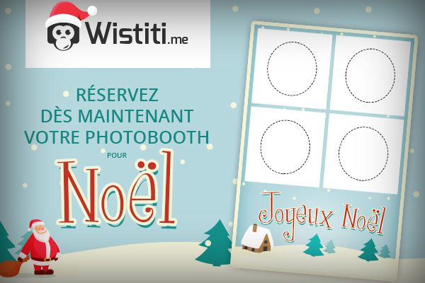 Un photobooth au pied du sapin !