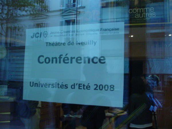 Universités d'Été de la JCEF à Neuilly