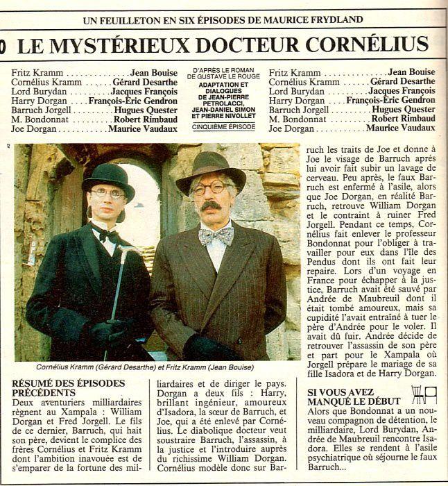 LE MYSTERIEUX DOCTEUR CORNELIUS