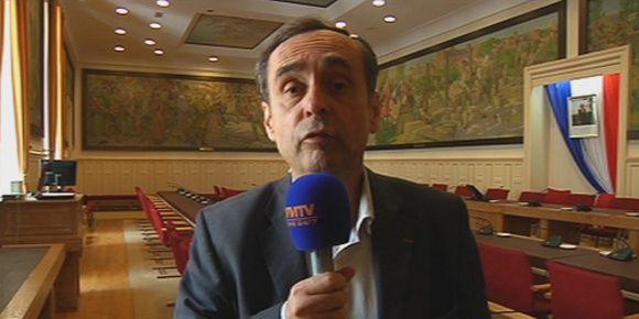 Robert Ménard, mercredi, à Béziers. (BFMTV)