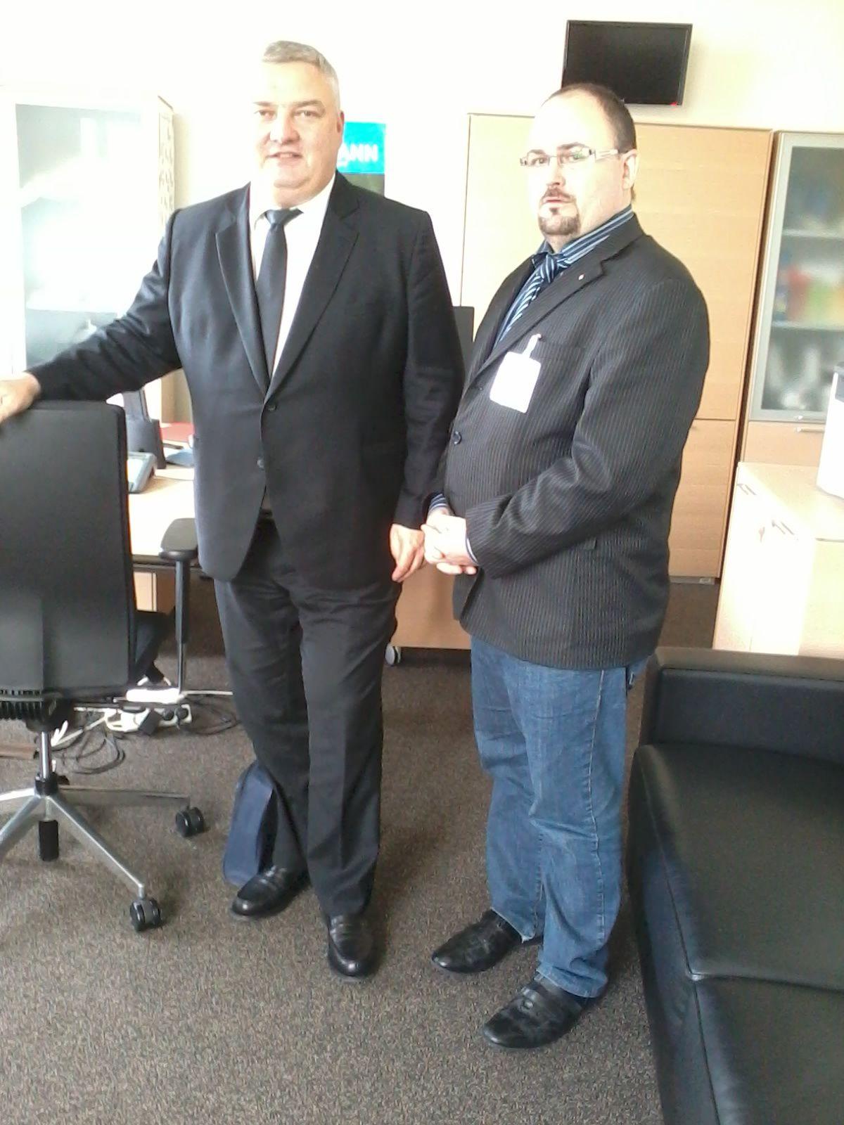 Le Député Eric STRAUMANN et Le Président du SDPM à l'Assemblée Nationale