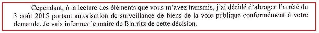 Gardiennage de la voie publique à Biarritz : la Préfecture retire son autorisation (MAJ : article de Sud-Ouest)