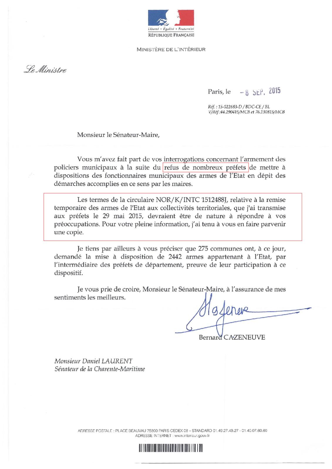 Recours au Conseil d'Etat contre le Préfet de Vendée : Une pièce essentielle du Ministre