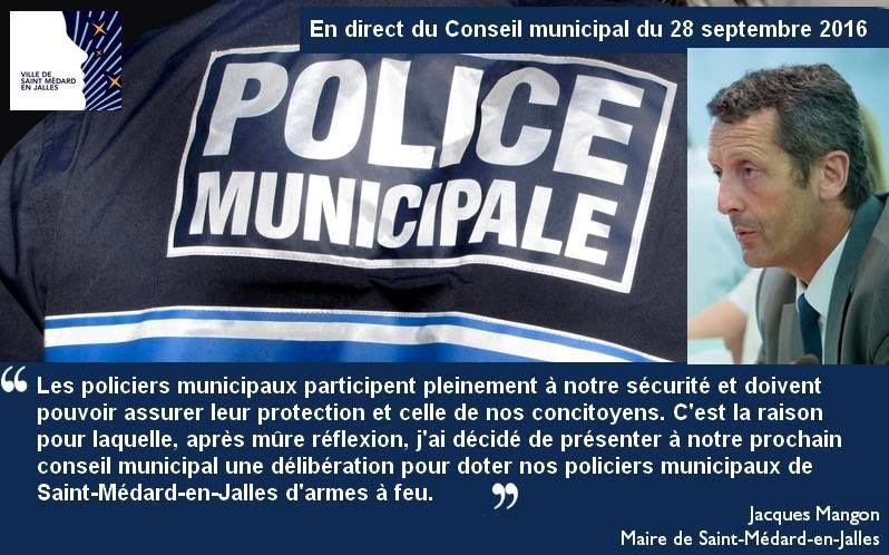 Gironde (33) : le Maire de Saint-Médard en Jalles ne suit pas Juppé et arme sa police municipale