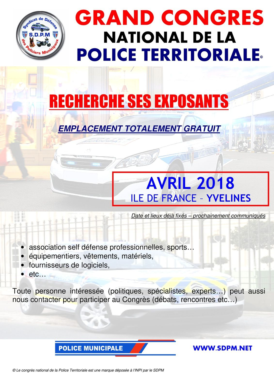 Grand Congrès National de la Police Territoriale en avril 2018, Ile France