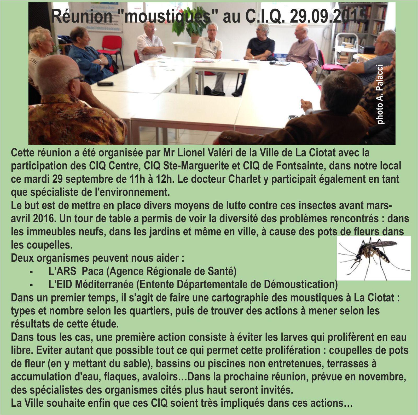 8 OCTOBRE 2015 - INFOS DU CIQ