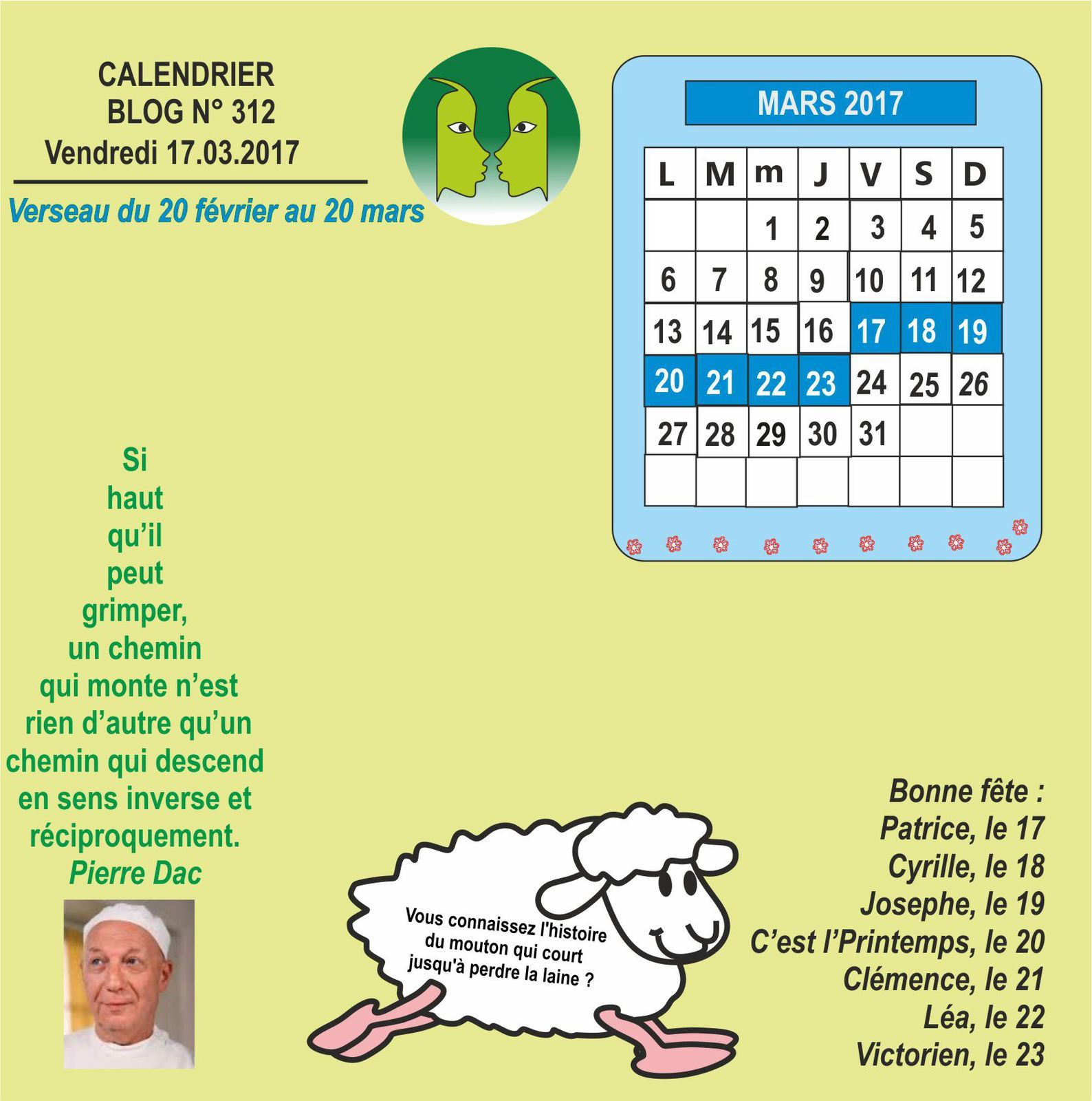 16 MARS 2017 - INFOS DU CIQ