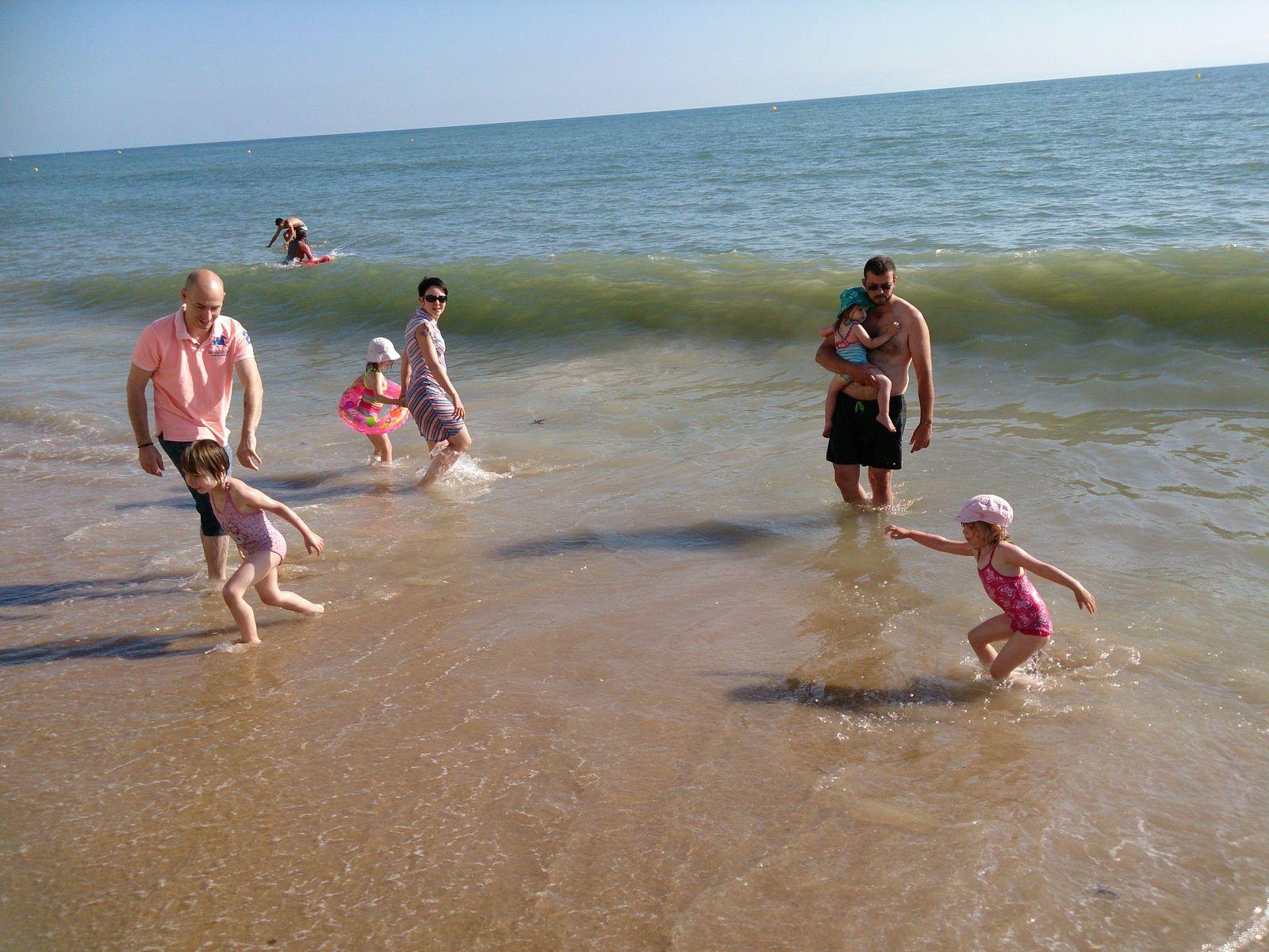 1er jour, 1ere baignade avec la chance de profiter de belles vagues !