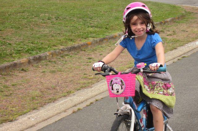 notre sortie vélo, où je me demande toujours comment je vais faire pour lui apprendre sans roulettes !