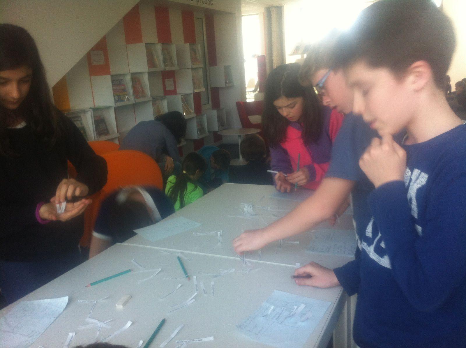 CM2: ateliers d'écriture de haïkus à la médiathèque