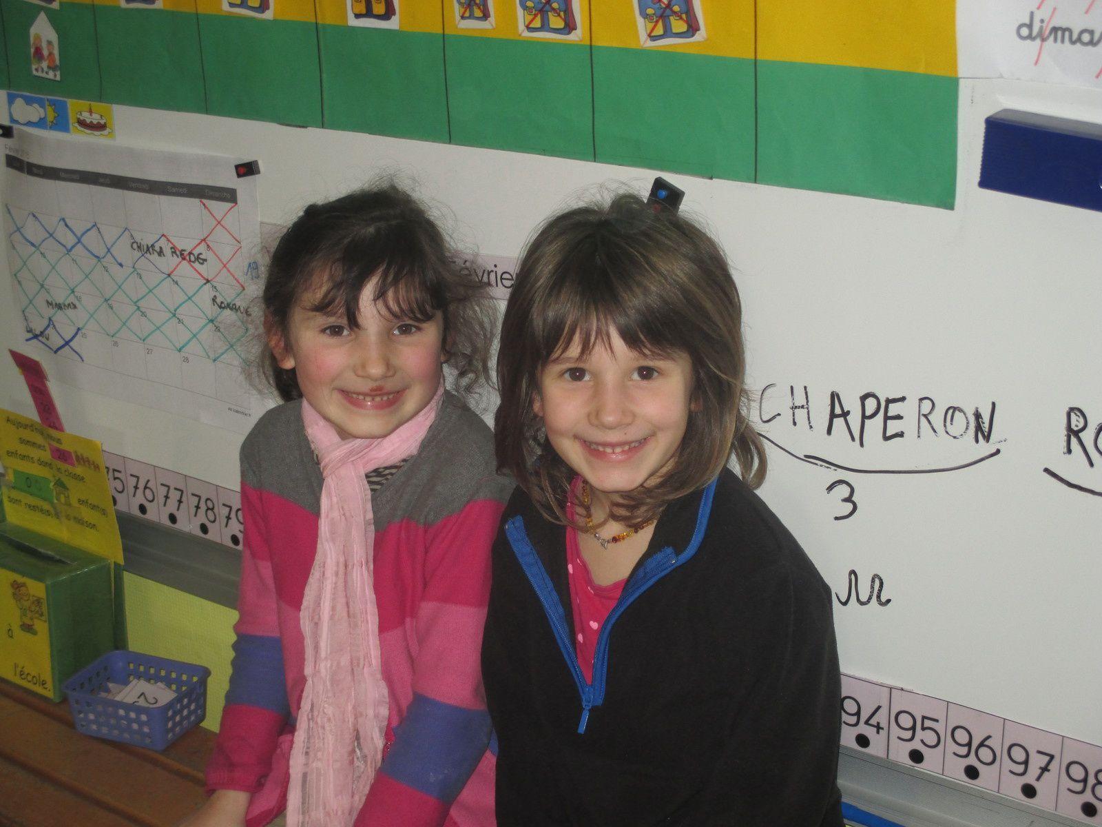 Margaux et Lilou ont eu 6 ans au mois de février.
