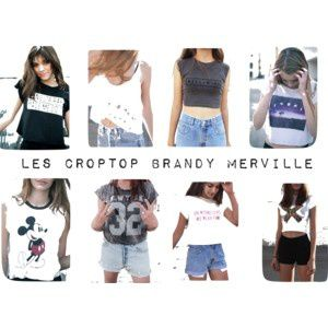 Les crop top brandy merville