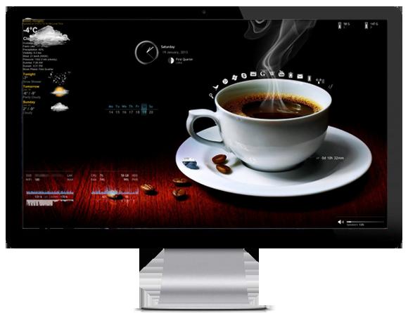 Dark Coffee Windows theme