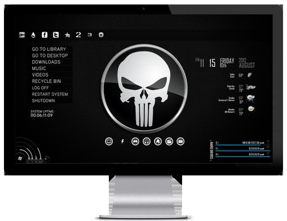 Punisher desktop theme