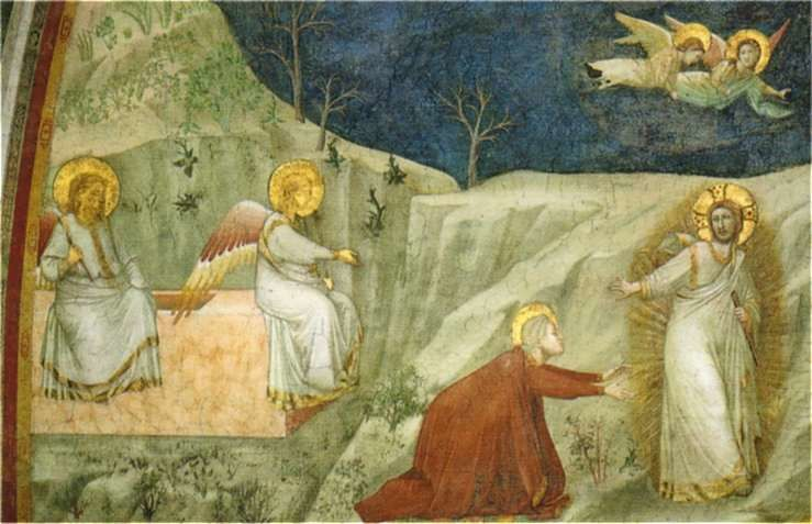GIOTTO, Noli me tangere, Assise, Basilique inférieure.