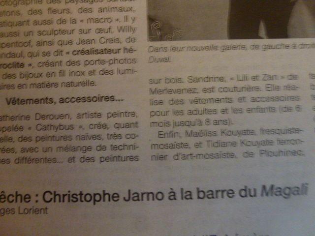 Articles du Ouest-France et du Télégramme.