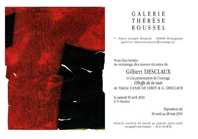 Exposition Gilbert Desclaux