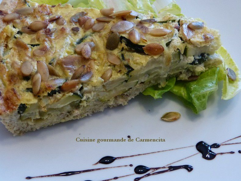 Pizza courgette et thon