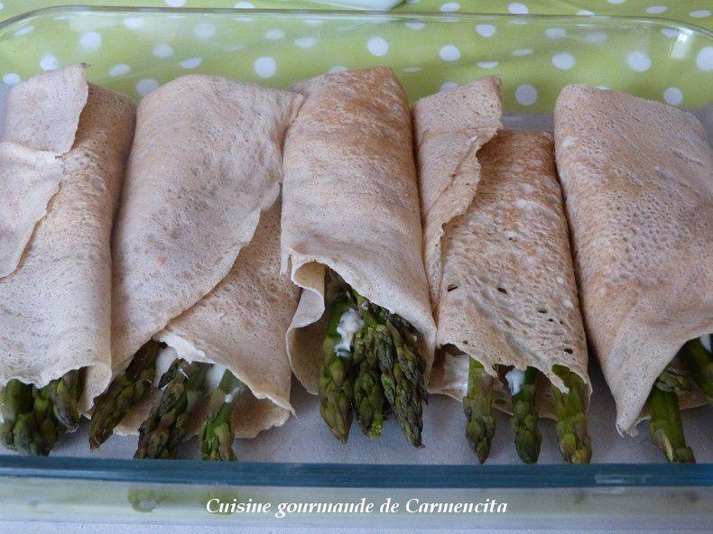 Galette de sarrasin aux asperges vertes