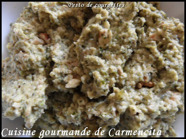 Sauce pesto de courgettes