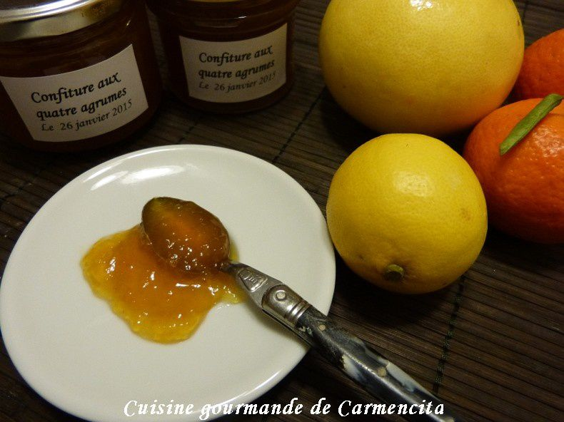 confiture de pamplemousse orange mandarine et citron. Black Bedroom Furniture Sets. Home Design Ideas