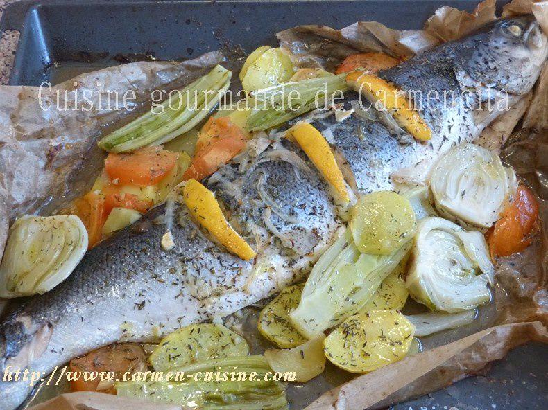 Saumon entier cuit en papillote cuisine gourmande de carmencita - Saumon en papillote ...