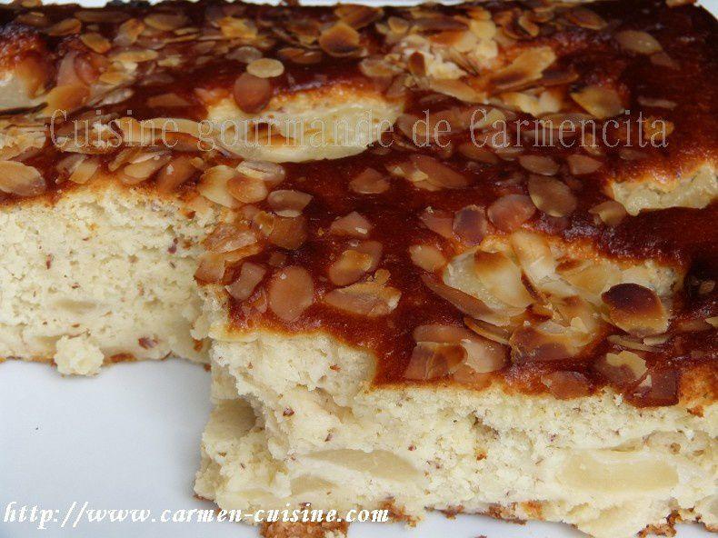 Gâteau ricotta poire et amande