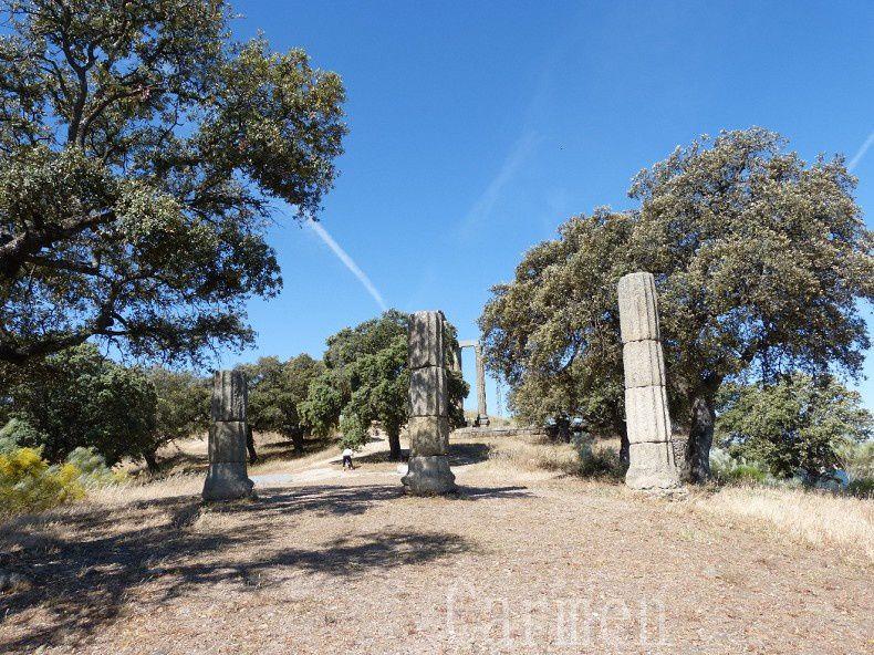 Ruines romaines de Augustobriga à Bohonal de Ibor (Caceres)