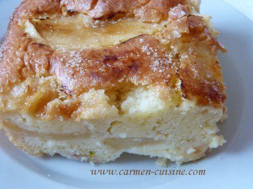 Gâteau de pommes au Limoncello et yaourt au lait entier de brebis
