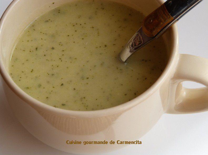 Potage de courgettes au Boursin ail et fines herbes