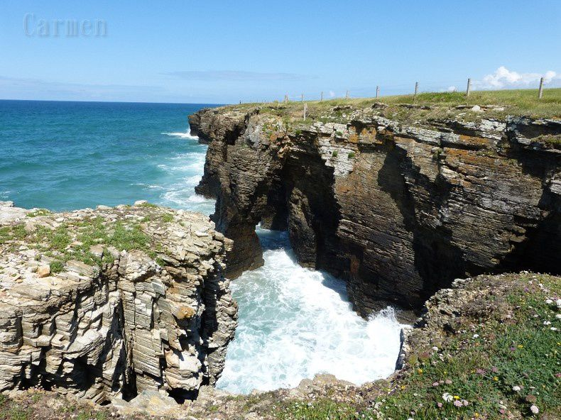 La plage des Cathédrales (Galice)