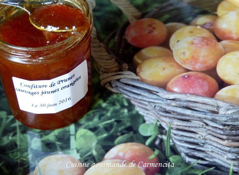 Confiture de prunes sauvages jaunes orangées