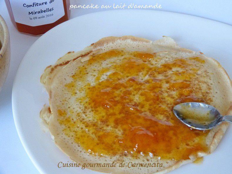 Pancake au lait d'amande
