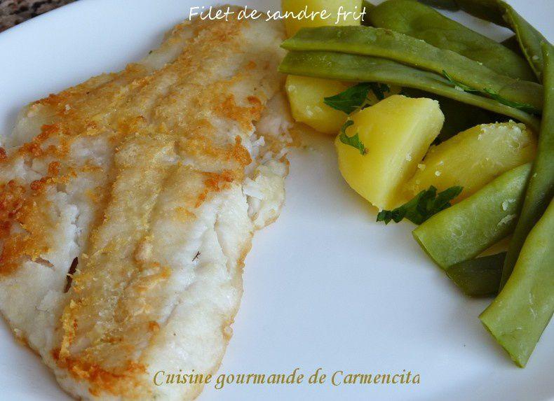 Filet de sandre frit et ses légumes