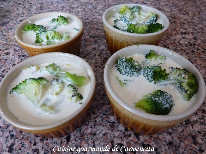 Petit flan de brocoli au parmesan