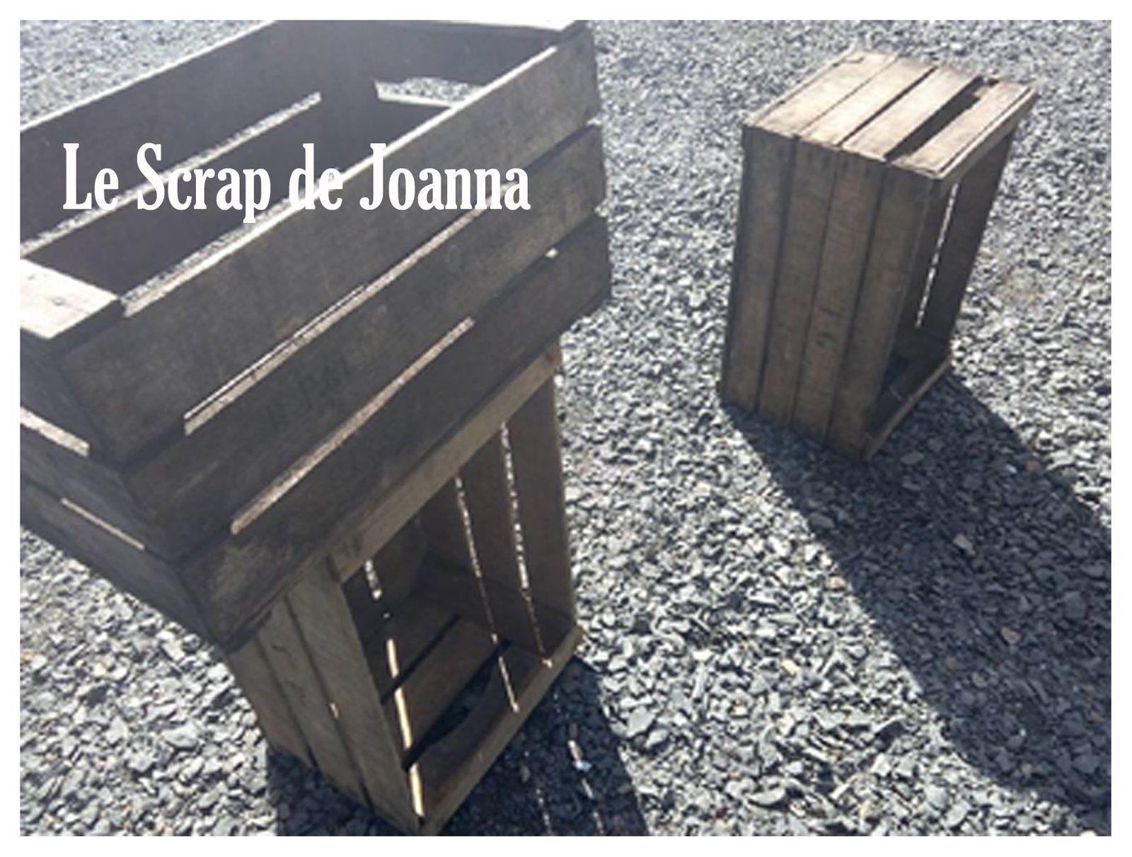 Caisse Pommes Le Scrap De Joanna # Meuble Tv Caisse A Pomme