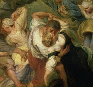Rubens, kermesse, 1635-38 &#x3B; Rembrandt, Saint Matthieu inspiré par l'ange, 1661
