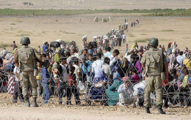 Reuters/Reuters - Près de la ville turque de Suruç où des tentes étaient en train d'être montées pour accueillir les réfugiés Kurdes de Syrie.