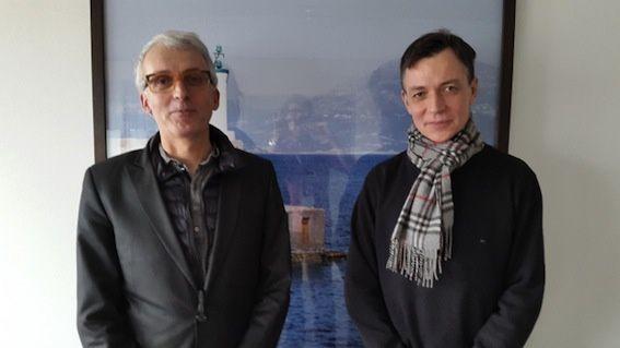 Michel Lussault et Olivier Rey. Raphaël Bourgois © Radio France