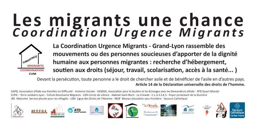 La migration fondamentalement est une chance. Pourtant être migrant par nécessité est un risque. Que l'accueillant voit en lui une chance !